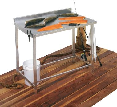 All aluminum fillet table game cleaning station for How to play fish table game