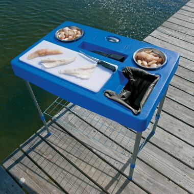 Fillet station table for Fish cleaning table bass pro