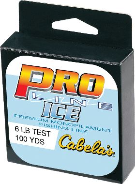 Pro line ice fishing monofilament for Cabela s ice fishing