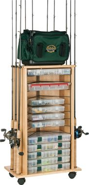Cabinet rack for Fishing rod storage cabinet