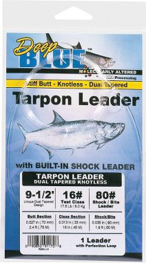 Deep blue tarpon leader for Gamma fishing line