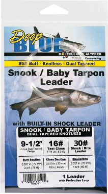 Deep blue snook leader for Gamma fishing line