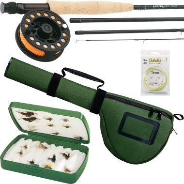 Fly fishing rod reel combos for Fly fishing combo kit