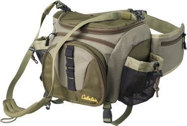 Deluxe chest hip pack for Cabelas fishing vest