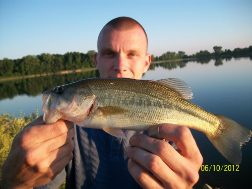 Largemouth Bass caught fishing Amicks Reservoir by Greg Jgr Rules