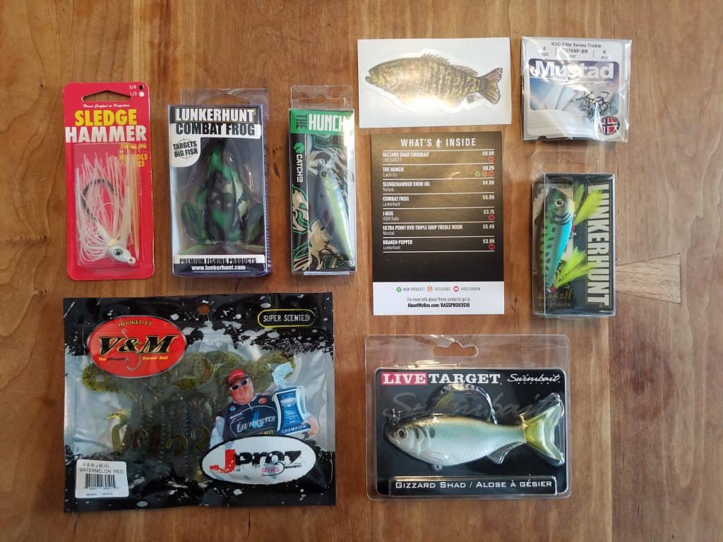 Mystery Tackle Box Contents