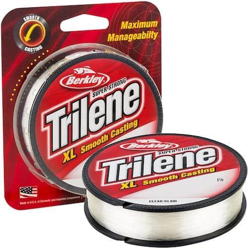 A spool of Berkley Trilene XL Monofilament against a white background.