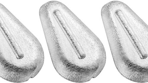 Dr. Fish's no-roll sinkers against a white background.