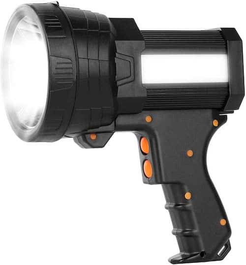 The IKAAMA Spotlight, a great product for fishing at night, against a white background.