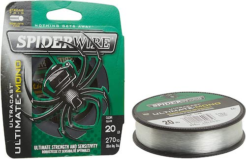 SpiderWire Ultracast Ultimate Monofilament against a white background.