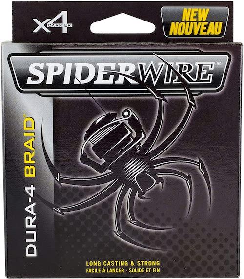 The Spiderwire Dura-4 Braid against a white background.