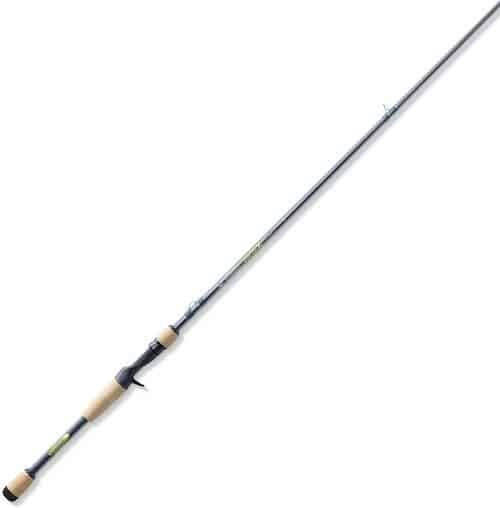 A St. Croix Avid X fishing rod against a white background.