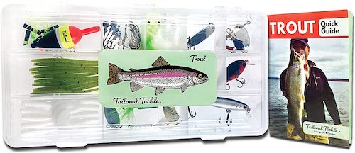 Tailored Tackle's Trout Box starter kit against a white background.