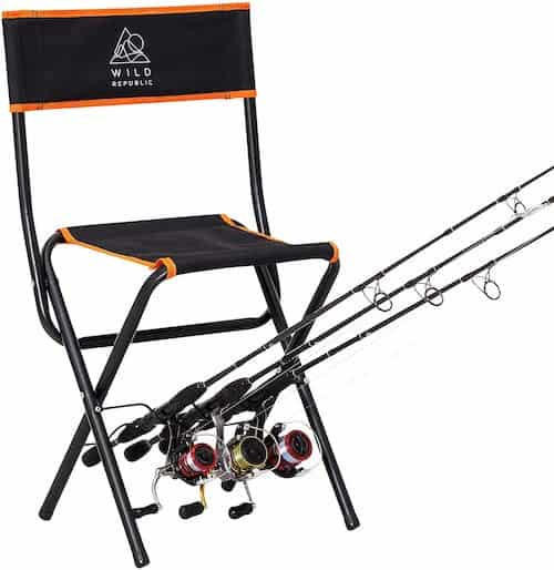 Wild Republic Fishing Chair With Rod Holder